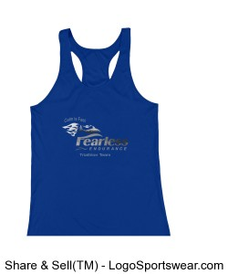 Women's Royal Racerback Design Zoom