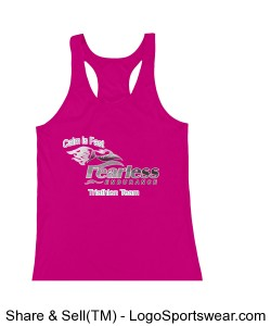 Women's Hot Pink Racerback Design Zoom