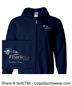 Men's Navy Hoodie Design Zoom