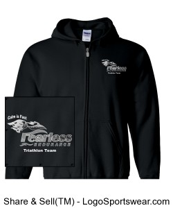 Men's Black Hoodie Design Zoom